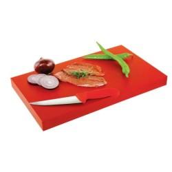 Tabla De Corte Rojo 30X20X2Cm
