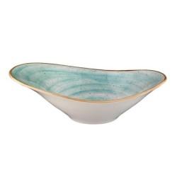 Bowl Oval 27X18 Cm Aqua Blue